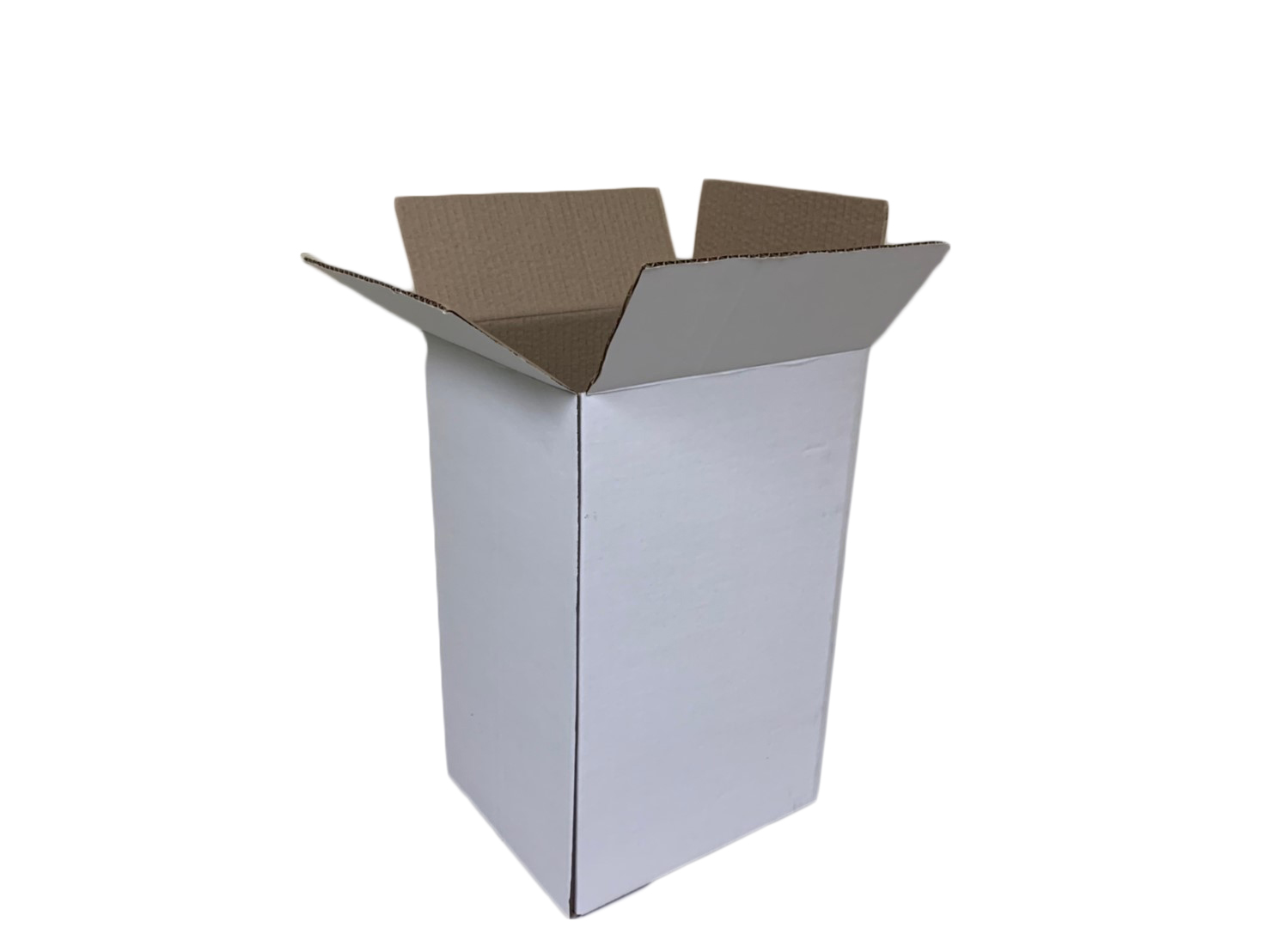 Standard box made from white paper