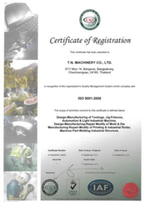 Quality Certified ISO 9001:2008